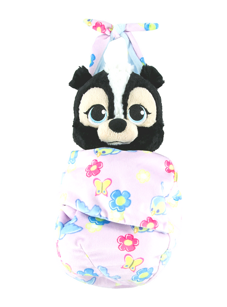 Disney Parks Baby Flower the Skunk from Bambi in a Blanket Pouch Plush Doll