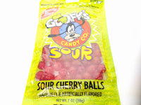 Disney World Parks  Goofy Candy Co. Sour Cherry Balls 7 Oz. Family Size Bag
