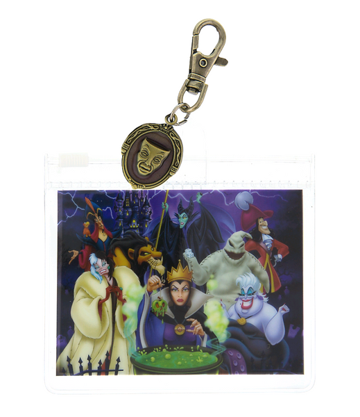Disney Parks Villians Lanyard Pouch with Charm
