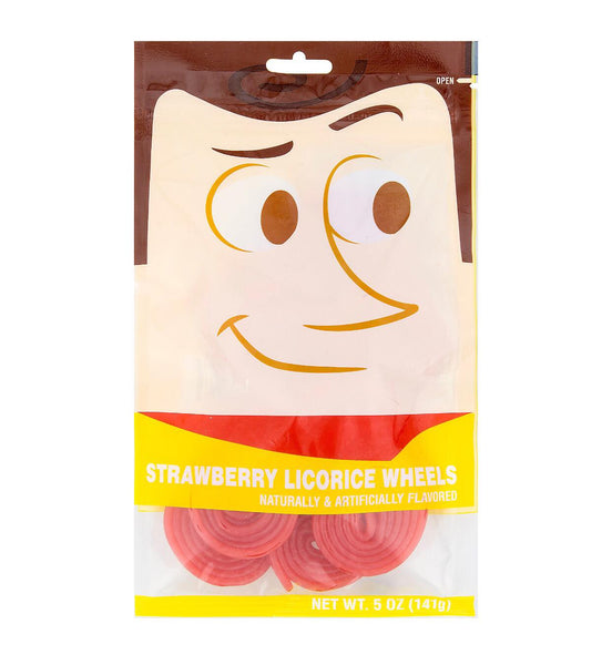 Disney Parks Strawberry Licorice Wheels- Woody From Toy Story