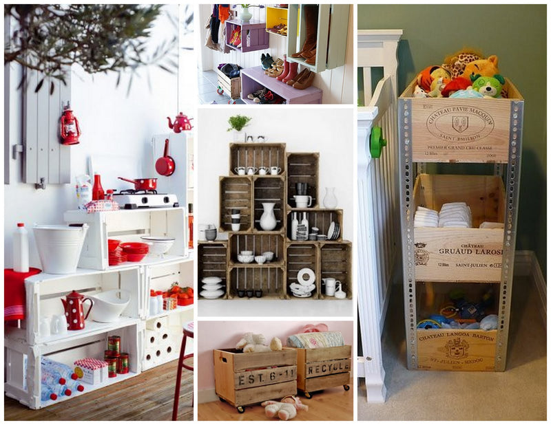 Wood Crate Storage and Decorating Ideas