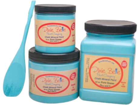 Image of Dixie Belle Chalk Paint Pure Ocean - FREE BRUSH! - Funkie Junkies Marketplace