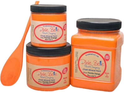 Dixie Belle Chalk Paint Florida Orange - FREE BRUSH! - Funkie Junkies Marketplace