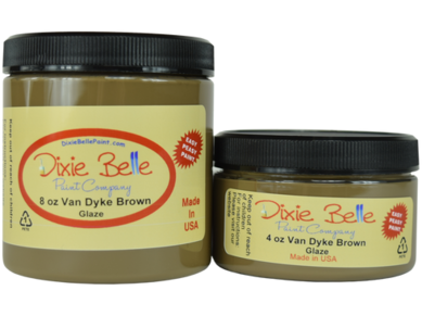 Image of Dixie Belle Paint Company Van Dyke Brown Glaze