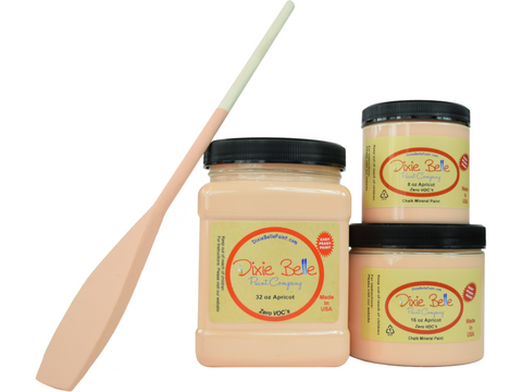 Image of Dixie Belle Apricot Chalk Mineral Paint - FREE BRUSH!