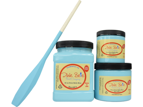 Image of Dixie Belle Belle Blue Chalk Mineral Paint - FREE BRUSH!