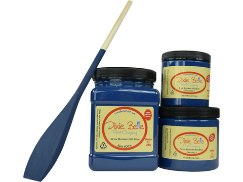 Image of Dixie Belle Bunker Hill Blue Chalk Mineral Paint-FREE BRUSH!