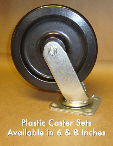 "8"" Plastic Caster (Set of 4)"