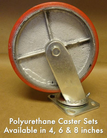 "4"" Poly Caster (Set of 4)"