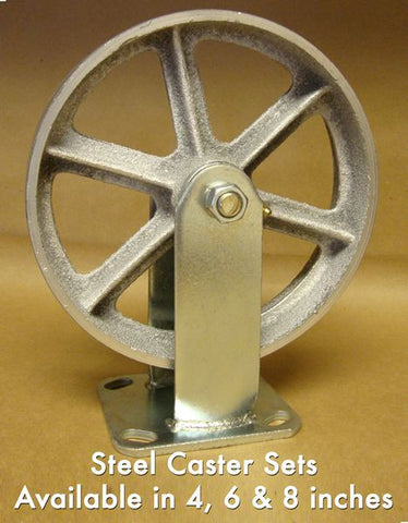 "8"" Steel Caster (Set of 4)"