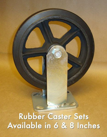 "8"" Rubber Caster (Set of 4)"