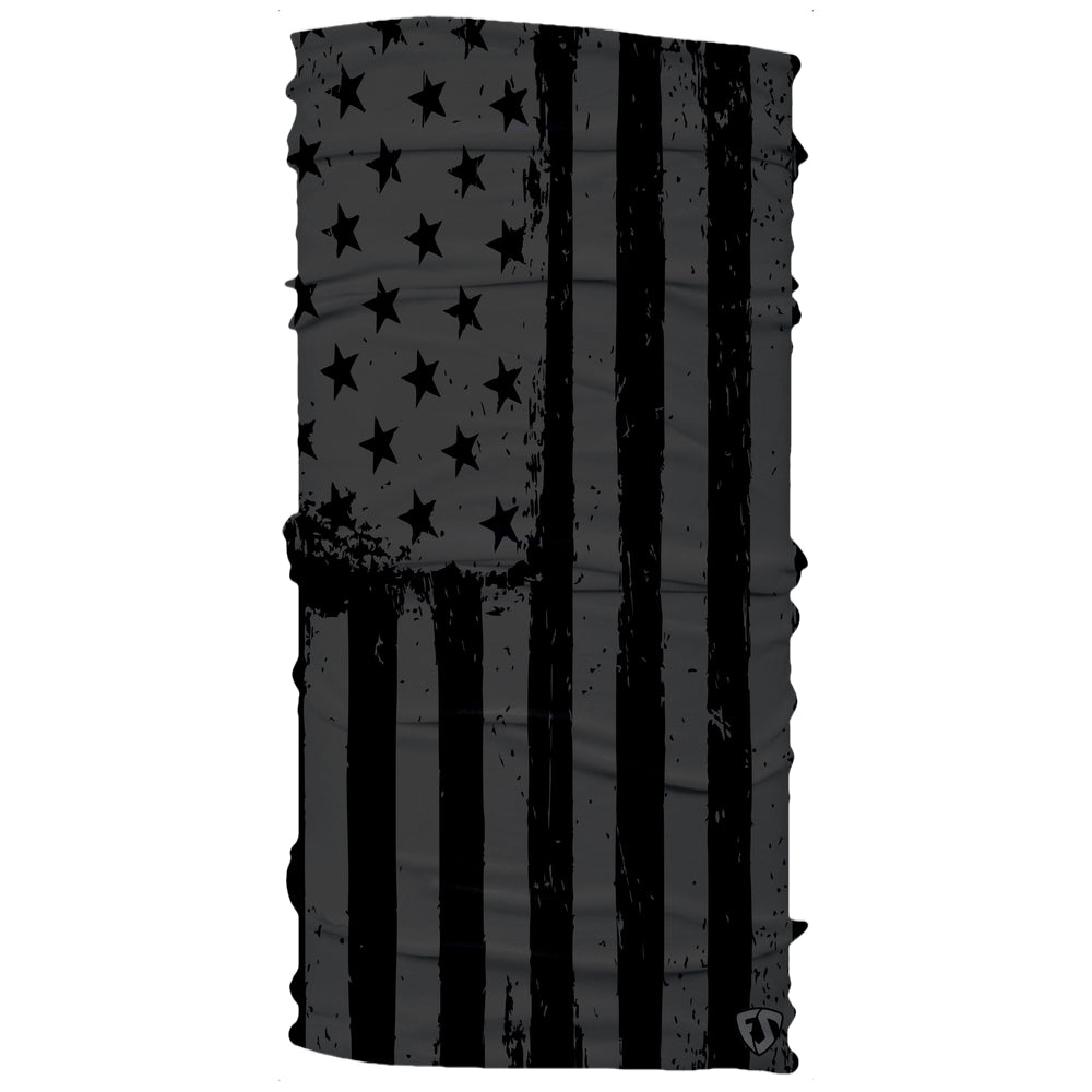 american grey white American black ops flag neck gaiter mask
