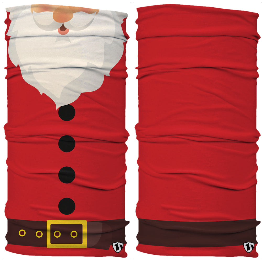 Red suit white beard Santa Claus Neck Gaiter