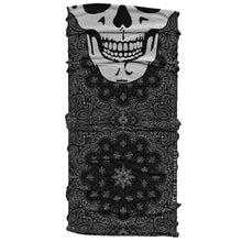 black white bandana paisley print skull day of the dead bad hombre neck gaiter