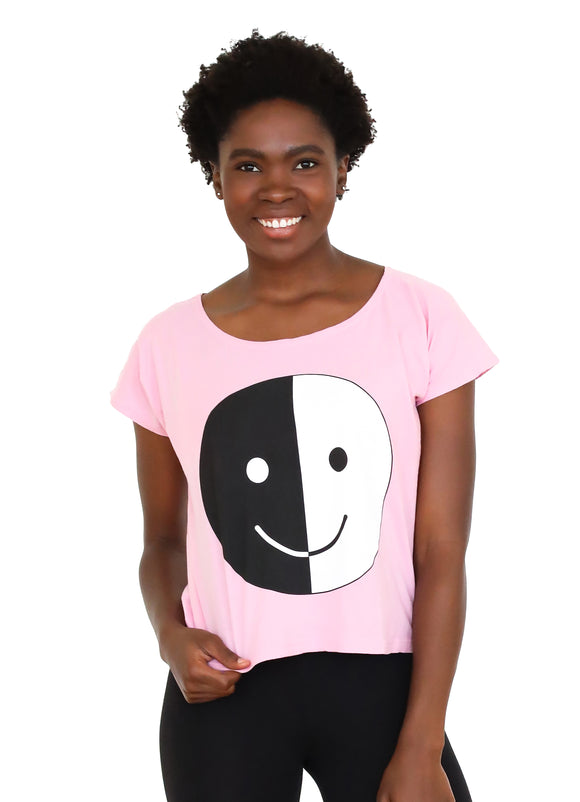 Smiley Face Round Neck