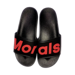 Morals Faux Leather Slides