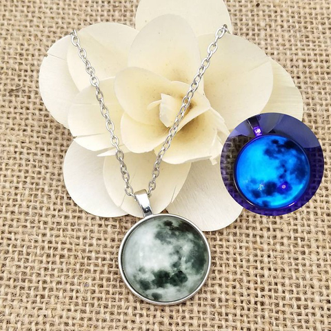 Image of Glowing MOON love Pendent Necklace Christmas Gift WNE9851
