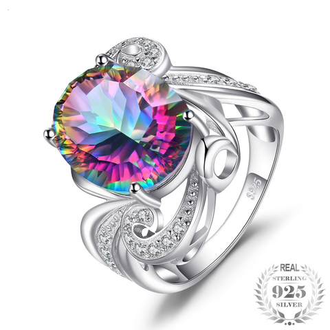 Image of Ethereal beauty 925 mystic Topaz ring