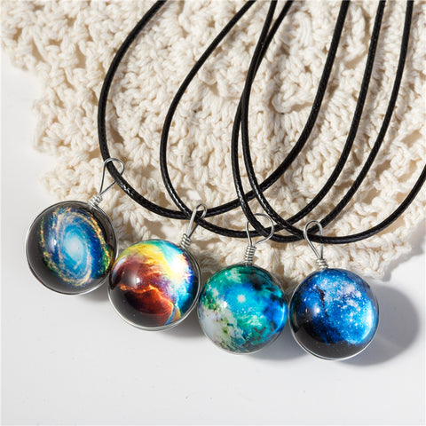 Galaxy Ball Pendant Necklace WNE9857