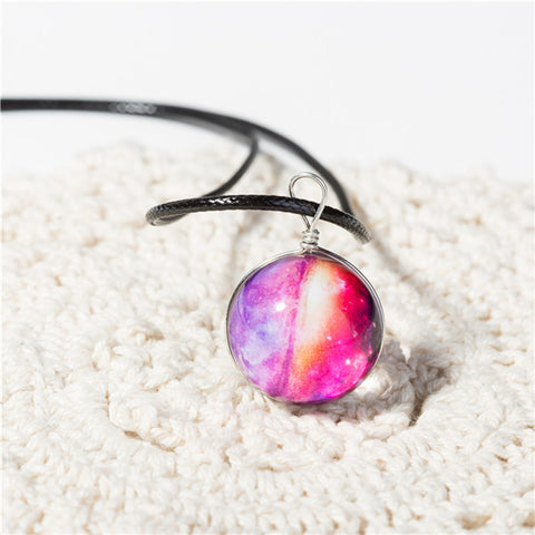 Image of Galaxy Ball Pendant Necklace WNE9857