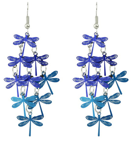 TDUnique Dragon Lillies Long metal Earrings