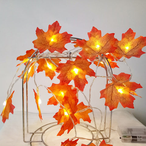 Image of Beautiful Maple Leaf Decoration LED for Wedding , parties