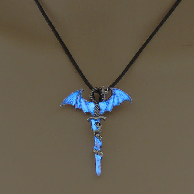 TD Unique Sword Luminous Dragon Unisex Pendant [Glow in Dark] PEN4104