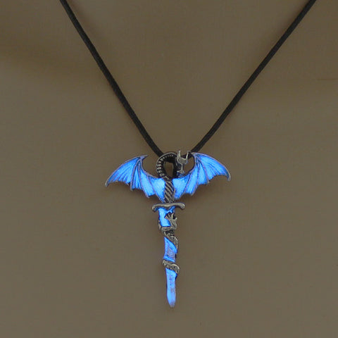 Image of TD Unique Sword Luminous Dragon Unisex Pendant [Glow in Dark] PEN4104