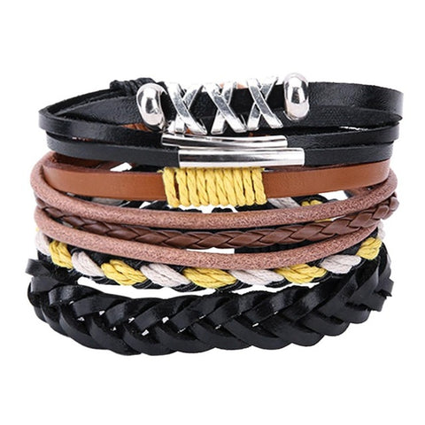 Tough Look Extra Comfort Leather Unisex Bracelet UBR2059