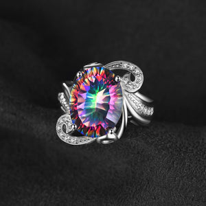 Ethereal beauty 925 mystic Topaz ring