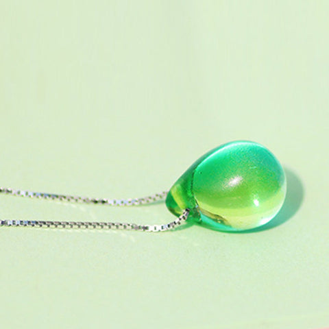Image of Exotic Beach Tear Drop Pendant Necklace WNE9871