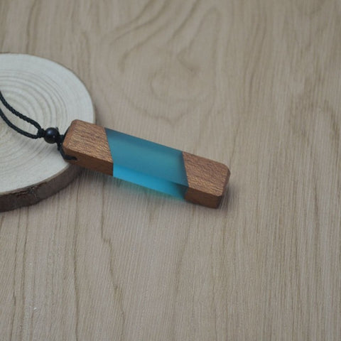 Image of TDUnique Wood Resin Unisex Pendent