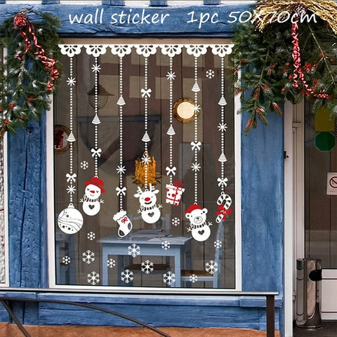 Image of Decorative Wall Stickers Christmas New Year 2019