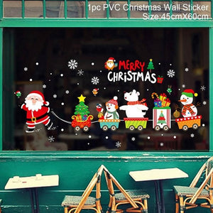 Decorative Wall Stickers Christmas New Year 2019