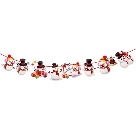 Image of Santa and Snowmen Decorative 2M Rail