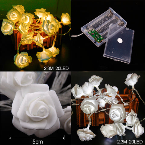 Image of LED RoseFairy light string 2.3 M 20 pieces