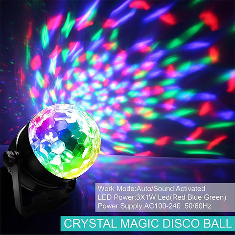 Image of Crystal Magic Disco ball laser Projector Light