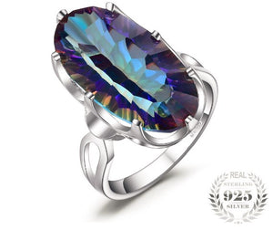 Premium Spectrum Fire Mystic Topaz 925 Sterling Silver Ring