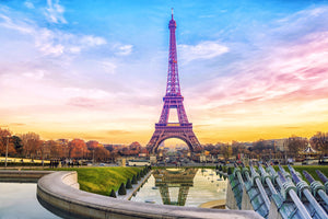 Eiffel Tower Sunset  - 01153 - Wall Murals Printing - wall art