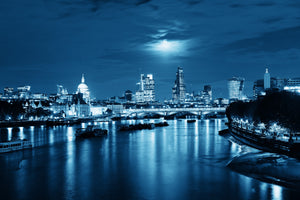 River and City at Night - 0119 - Wall Murals Printing - wall art