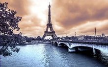 Paris with Eiffel Tower - 0124 - Wall Murals Printing - wall art