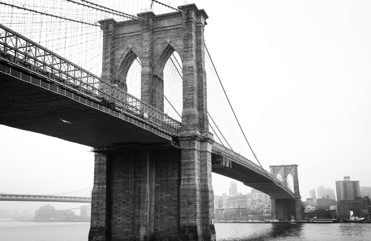 Black & White Bridge - 0163 - Wall Murals Printing - wall art