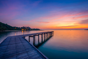 Sunset by the Dock  - 018 - Wall Murals Printing - wall art
