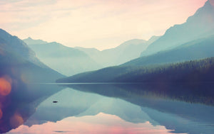 Foggy Lake and Mountains - 02108 - Wall Murals Printing - wall art