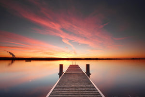 Sunset from the Dock  - 02225 - Wall Murals Printing - wall art