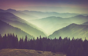 Foggy Mountain Sunset - 0260 - Wall Murals Printing - wall art