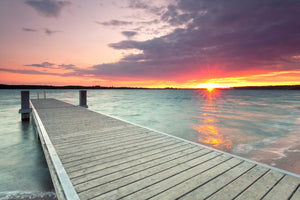 Dock Sunset - 0271 - Wall Murals Printing - wall art