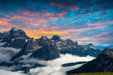 Beautiful Cloud in Mountains - 0280 - Wall Murals Printing - wall art
