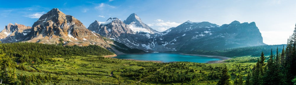 Mountains & Lake Panoramic - 0294 - Wall Murals Printing - wall art