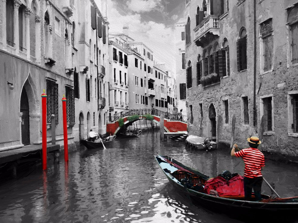 Venice Canal - 0320 - Wall Murals Printing - wall art
